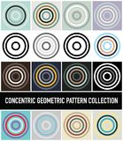 Seamless Colorful Abstract Modern Concentric Circles Pattern Col. Lection royalty free illustration
