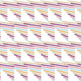 Seamless Colorful Abstract Modern Line Pattern Stock Photo