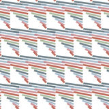 Seamless Colorful Abstract Modern Line Pattern Stock Photography