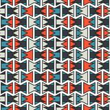 Seamless colorful abstract orange and blue geometric stroke horizontal pattern texture element.  Royalty Free Stock Images