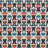Seamless colorful abstract orange and blue geometric stroke vertical pattern texture element.  Stock Illustration