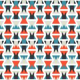 Seamless colorful abstract orange and blue geometric vertical pattern texture element.  Royalty Free Illustration