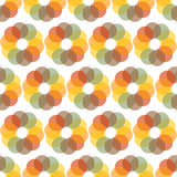 Seamless Colorful Abstract Pattern from Repetitive Concentric Ci Royalty Free Stock Photo