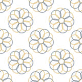 Seamless Colorful Abstract Pattern from Repetitive Concentric Ci Royalty Free Stock Photography
