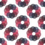 Seamless Colorful Abstract Pattern from Repetitive Concentric Ci Stock Photography