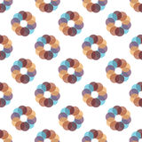 Seamless Colorful Abstract Pattern from Repetitive Concentric Ci Stock Photo