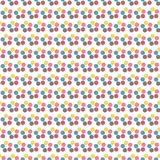 Seamless Colorful Abstract Pattern from Repetitive Concentric Ci Stock Image