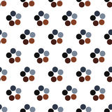 Seamless Colorful Abstract Pattern from Repetitive Concentric Ci Stock Images