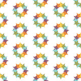 Seamless Colorful Abstract Pattern from Repetitive Stars Royalty Free Stock Photo