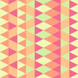 Seamless colorful abstract triangles pattern. stock illustration