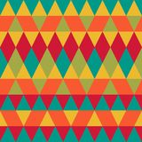 Seamless colorful abstract triangles pattern. royalty free illustration