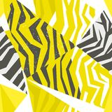 Seamless colorful animal skin texture of zebra Royalty Free Stock Photography