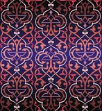 Seamless colorful arabesque background Royalty Free Stock Images