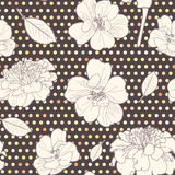 Seamless colorful autumn floral pattern Stock Photo