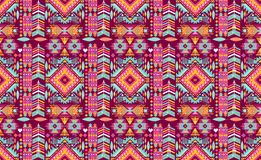 Seamless colorful aztec geometric pattern Royalty Free Stock Photography