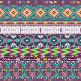 Seamless colorful aztec geometric pattern Royalty Free Stock Image