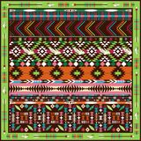 Seamless colorful aztec geometric pattern Stock Photography