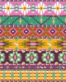 Seamless colorful aztec geometric pattern. With birds and arrows Royalty Free Stock Images