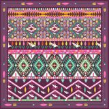 Seamless colorful aztec geometric pattern Stock Photos