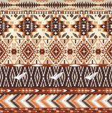 Seamless colorful aztec geometric tribal pattern Royalty Free Stock Photos