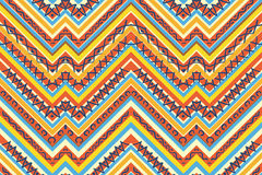 Seamless colorful aztec pattern Royalty Free Stock Photography