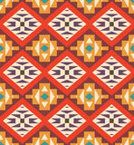Seamless colorful aztec pattern Stock Images