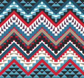 Seamless colorful aztec pattern royalty free illustration