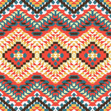 Seamless colorful aztec pattern. Bright seamless colorful aztec pattern Royalty Free Stock Image