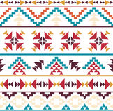 Seamless colorful aztec pattern. Bright seamless colorful aztec pattern Royalty Free Stock Photos