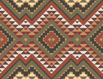 Seamless colorful aztec pattern vector illustration