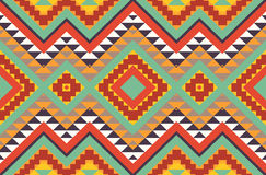 Seamless colorful aztec pattern. Bright seamless colorful aztec pattern Stock Image