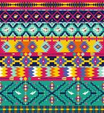 Seamless colorful geometricaztec pattern Stock Image