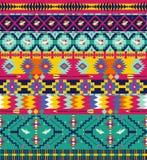 Seamless colorful geometricaztec pattern. Seamless colorful aztec pattern with birds, and arrow Stock Image