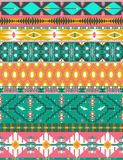 Seamless colorful aztec pattern with birds. And arrow Royalty Free Stock Images