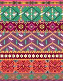 Seamless colorful aztec pattern with birds Royalty Free Stock Photography