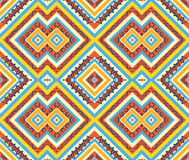 Seamless colorful aztec pattern Stock Photos