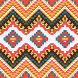 Seamless colorful aztec pattern Stock Photo