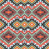 Seamless colorful aztec pattern Stock Photo