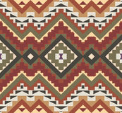 Seamless colorful aztec pattern. Bright seamless colorful aztec pattern Stock Photography