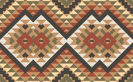 Seamless colorful aztec pattern Royalty Free Stock Image