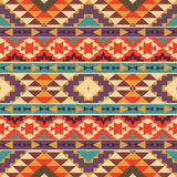 Seamless colorful aztec pattern. Bright seamless colorful aztec pattern Stock Images