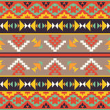 Seamless colorful aztec pattern Stock Photography