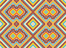 Seamless colorful aztec pattern Royalty Free Stock Photos