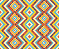 Seamless colorful aztec pattern. Bright colors Stock Photography