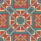 Seamless colorful aztec pattern. Bright colors Stock Image