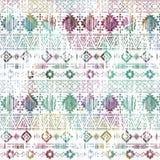 Seamless colorful Aztec pattern. Horizontal  stripes on a white background. Seamless colorful Aztec pattern. Horizontal decorative stripes on a white background Royalty Free Stock Photo