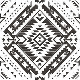 Seamless colorful aztec pattern. Pencil Drawing Stock Images