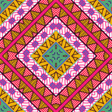 Seamless colorful aztec pattern. Vector illustration Stock Photography