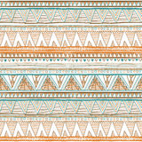 Seamless colorful aztec pattern vector orange Ethnic seamless. Art Stock Photos