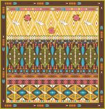 Seamless colorful aztec rug with birds, and arrow Stock Image